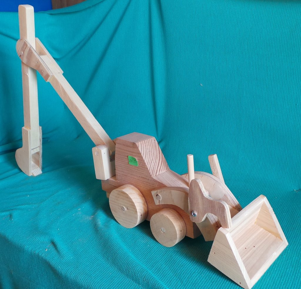 Wooden toy: construction digger