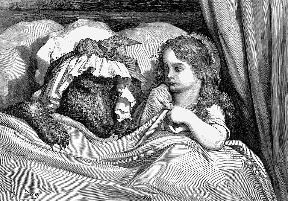 Gustav Dore's etching of Little Red