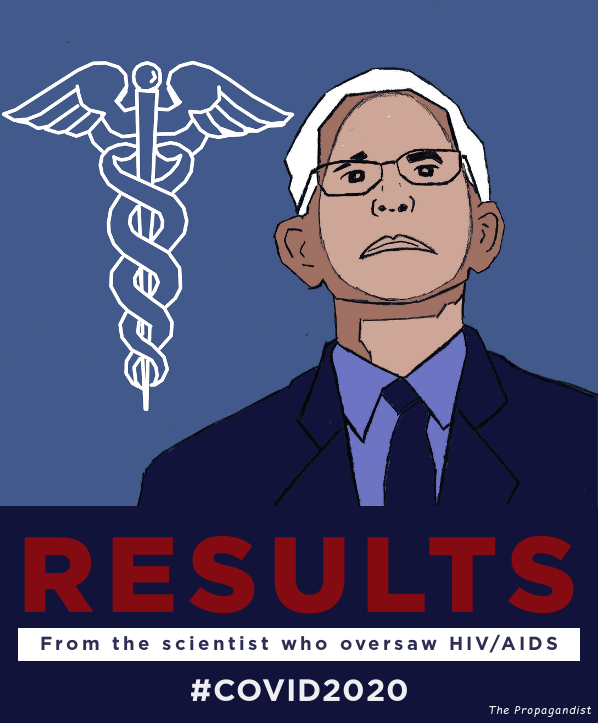 Inspirational Dr. Fauci poster. RESULTS: From the scientist who oversaw HIV/AIDS #COVID2020
