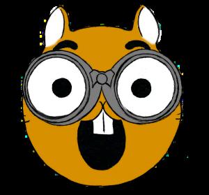 Squirrel with binoculars emoji