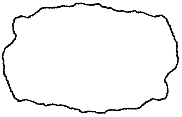 outline of rough rock