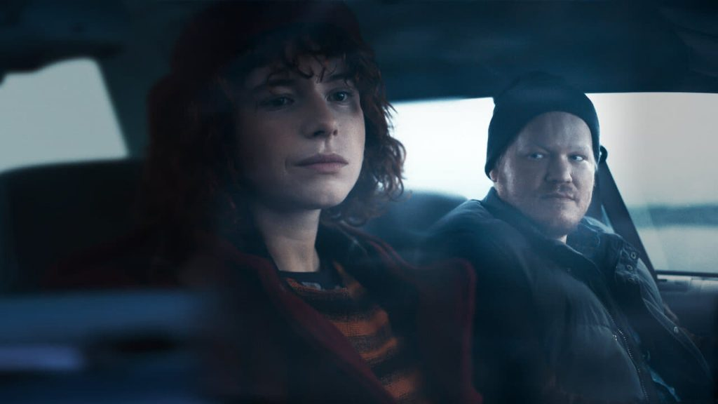 "Netflix 2020 film ""Thinking of Ending Things"" couple in car"