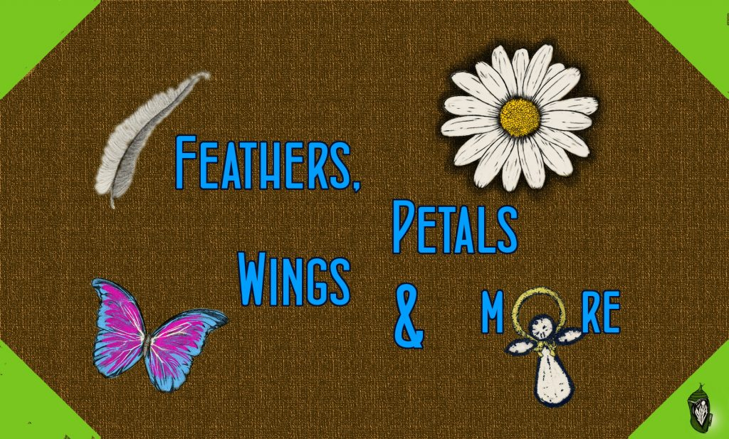 Store sign for Flowers, Petals, Wings & More on Main Street